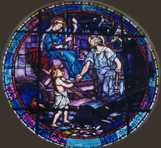 Holy Family window - Wilmington