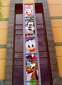 Disney Studios Stained Glass Window