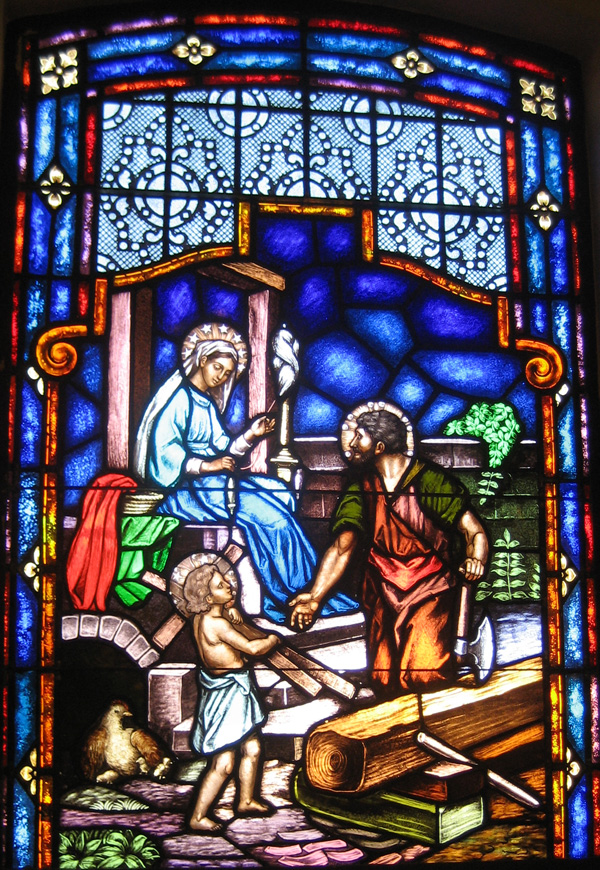 Holy Family repaired window